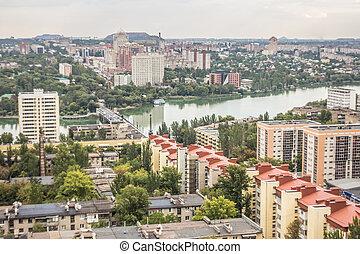 overcast urban landscape of Donetsk, East Europe, Ukraine