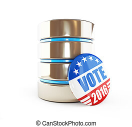 database of voters in the US 2016