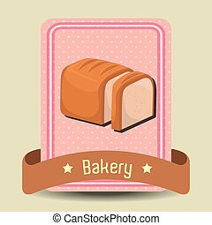 Bakery shop graphic design, vector illustration eps10