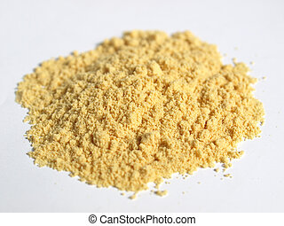 Mustard - Heap of yellow fine mustard powder spice