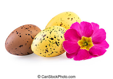 Ester Eggs Decoration Isolated Clipping Path Included
