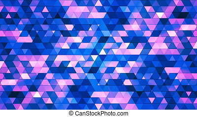 Broadcast Twinkling Polygon Hi-Tech Triangles, Blue, Abstract, Loop, HD