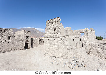 Ruin of an old Omani village - Ruin of an old omani village...