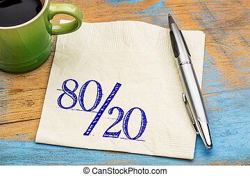Pareto principle on napkin