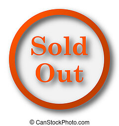 Sold out icon Internet button on white background