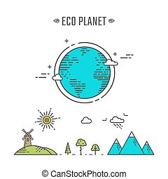 Eco planet illustration
