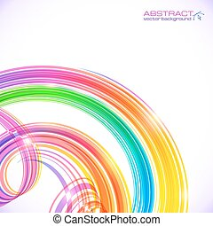Rainbow colors abstract shining spirals background - Rainbow...