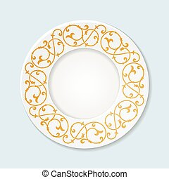 Decorative plate with floral ornament.