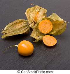 chinese lantern - Physalis also known as chinese lanterns on...