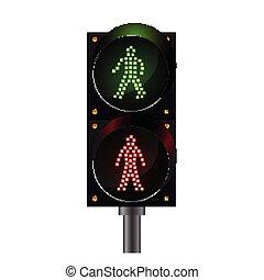 traffic signs - Illustration of Pedestrian crossing,...