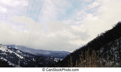 Power Lines in Winter