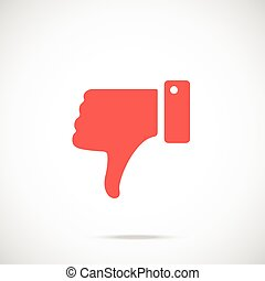 Vector dislike icon. Vector icon - Vector dislike icon. Red...