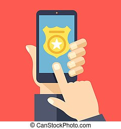 Call police app on smartphone