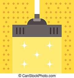 Vacuum carpet Cleaning concept Modern flat design vector...