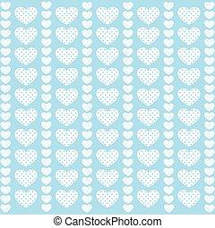 Heart pattern love in blue