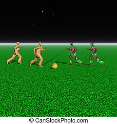 Interplanetary football - Fantastic football in a distant...