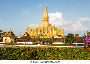 laos - Wat Phra That Luang, Vientiane, Laos
