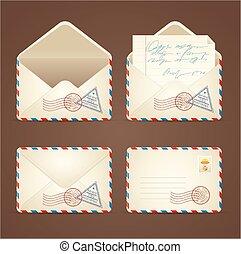 Letter Mail Vintage Set. Vector