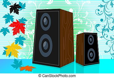 Speaker in colour background