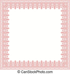 Floral Vector Fine Frame - Classic pink vector square frame...