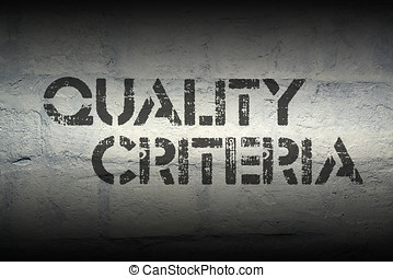 quality criteria gr - quality criteria stencil print on the...