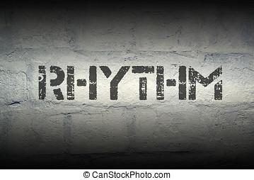 rhythm word gr - rhythm word stencil print on the grunge...