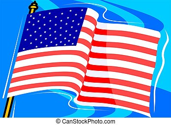 American flag with a background