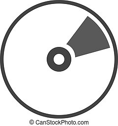 CD icon illustration - CD DVD Blue ray icon flat...