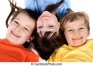 Bright Smiling Kids - Three children smiling and having fun