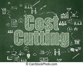 Finance concept: Cost Cutting on School Board background