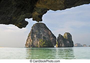 tropical beach of Railay beach thailand - The tropical beach...