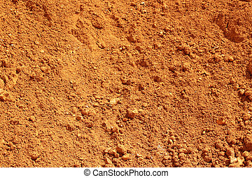 red earth coming from a sand pit