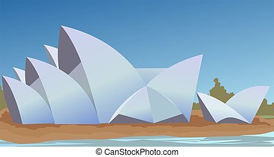 Opera house - Illustration of opera house with colour