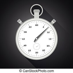 stopwatch - illustration of old fashioned analog stopwatch...