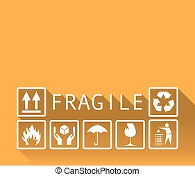 Fragile template background in a flat design