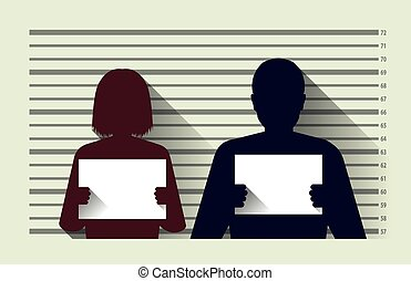 Criminal record - Police criminal record with man and woman...