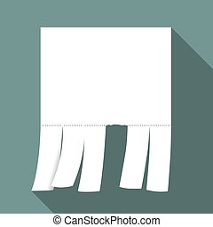 Advertisement with cut slips - Blank advertisement with cut...