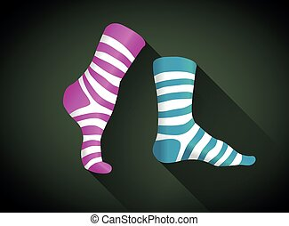 stripped socks - Stripped socks in a flat design