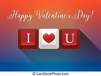 """Happy Valentine Day with """"I Love You"""" keyboards"""
