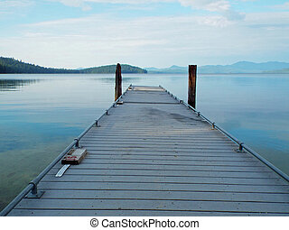 Wooden Dock on a Calm Lake