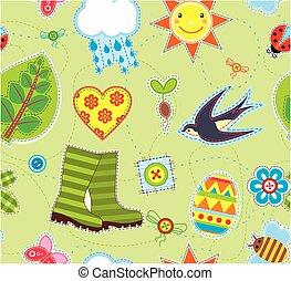 Spring Seamless Background Textile Element