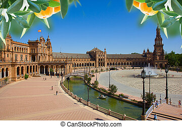 famouse square of Spain in Seville - Famouse square of Spain...