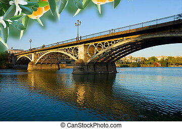 Triana Bridge, Seville, Spain - Triana Bridge, the oldest...