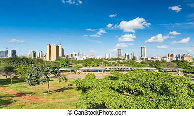 Nairobi Skyline And Park Timelapse - Timelapse sequence...