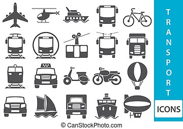 Vector transport icons - Set of vector icons with vehicles...