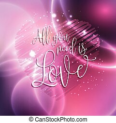 all you need is love design 0601 - Decorative text design...