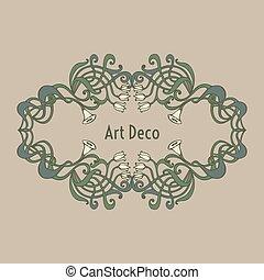 Art nouveau, art deco, modern, vintage elements - Art...