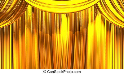 Gold Stage Curtain