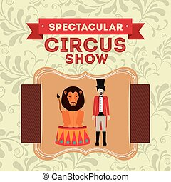 spectacular circus show design, vector illustration eps10...