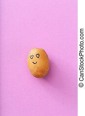 Funny potato - Art Funny potato on a purple background